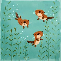 Adorable animal illustration from cally jane studio