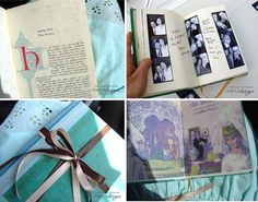 Make your own vintage inspired guest book... (and yes, I acknowledge that I am already married... I just like this!)