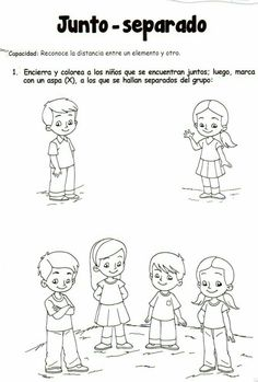Conceptos espaciales Infant Activities, Preschool Activities, Easy Knitting Projects, Human Drawing, How To Speak Spanish, Teaching Spanish, Drawing For Kids, Google, Students Day
