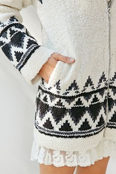 BDG Buffalo Sweater Jacket - Urban Outfitters