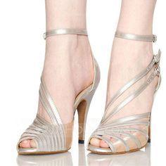 be9ed4cdc1a32a [€ 33.97] Femmes Satiné Talons Sandales Latin avec Boucle Ouvertes  Chaussures de danse (