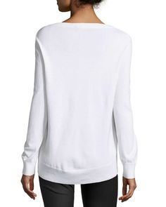 Elliptical Long-Sleeve Top, White
