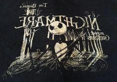 Nightmare Before Christmas Mirror Shirt Large Burton Disney Goth Vintage