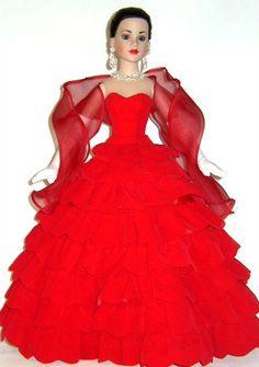 "2004 IDEX Kitty Collier Red Velvet Cascade 18"", Centerpiece Exclusive. LE100. Dressed Doll. Robert Tonner"