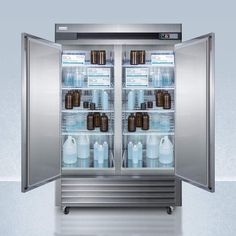 49 Cu.Ft. Upright Pharmacy Refrigerator – One World Wine Coolers Wire Shelving, Adjustable Shelving, Shelves, Stainless Steel Cabinets, Stainless Steel Refrigerator, Glass Door Refrigerator, Door Alarms, Electrical Safety, The Door Is Open