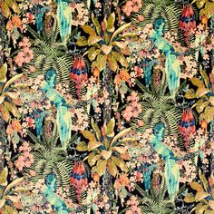 Jungle Rumble Velvet - Leopard | Linwood Fabrics