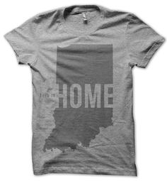 """United State of Indiana.  """"This is Home"""" tee."""