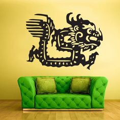 Wall Vinyl Decal Sticker Bedroom Kids Decal Kids Baby Chineese Decal Dragon z380