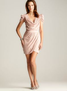 for the other bridesmaids    http://www.loehmanns.com/Women-Daytime-Dresses-Contemporary-Dresses/French-Connection-Delicious-Draped-Neck-Dress.htm