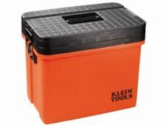 Hi-Viz Sit/Stand Tool Box (54701) – This tool box does more than just store tools.  The lid is strong enough to sit or stand on!  It also has an optional wheel caddy so it's easy to move around even loaded with tools!