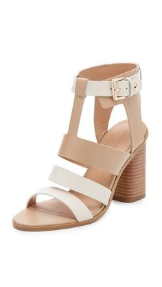 love these Sophisticated Sigerson Morrison sandals with sturdy, two-tone straps - get even more style and shopping inspiration on http://jojotastic.com/shop-my-favorites/