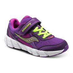 Saucony Kotaro 2 A/C Athletic Velcro in Purple/Berry/Citron