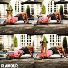 Carrie Underwood's arm workout: Chest series