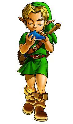 Young Link & Ocarina | The Legend of Zelda: Ocarina of Time 3D, Young Link