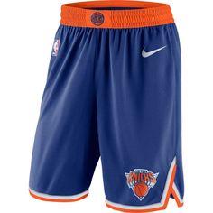 098b5876ef9 New York Knicks Nike Icon Swingman Basketball Shorts – Blue