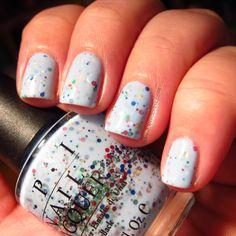 DIY Nail Polish - Nailin It's FRANKEN Quelle Suprise = HNM Confetti + Sheer White + 10 drops of NYX Inc