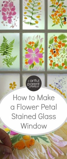 How to Make Flower Petal Stained Glass