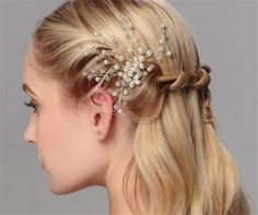 13.33$  Buy now - http://viuam.justgood.pw/vig/item.php?t=htnzt6t5990 - Exquisite Beautiful Bridal Hair Accessories, Pearls Bridal Headpiece, Crystal Hair Comb, made with High Quality Diamante, Pearls and beads. This looks really