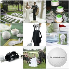Golf wedding theme board