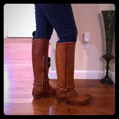 Vince Camuto RichitaBoot.👢 Brand New , still in box ,tobacco color.with dusty gold tone hardware.Leather sole , leather insole. 16 in shaft. Beautiful boots.👢👢👢😍Regular calf size . Vince Camuto Shoes Winter & Rain Boots