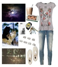 """""""Kee"""" by anna-fozo ❤ liked on Polyvore featuring Vans, Topshop, Diesel, MANGO and Kennett"""