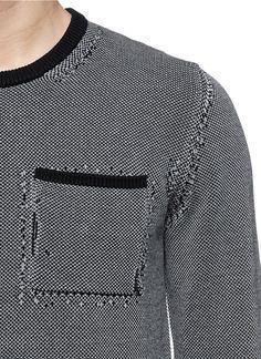 MAISON MARGIELA - Distressed cotton sweater   Multi-colour Sweaters Knitwear   Menswear   Lane Crawford