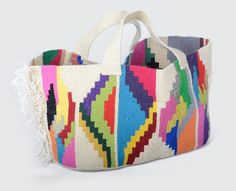 """""""Electric Patch"""" oval tote bag"""