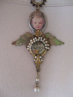 Truly Blessed... vintage repurposed angel by OhMyGypsySoul on Etsy