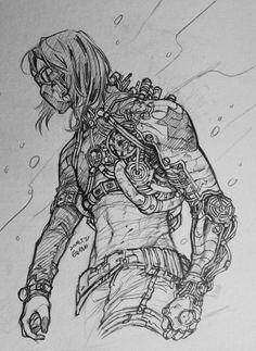AU Bucky (2) Maybe mechanical..? very fun to draw.