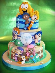Bubble Guppies birthday cake for my  baby girl