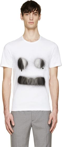 Acne Studios White Eddy Symbol Smile T-Shirt