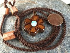 Mini ayahuasca Pendant / caapi jewelry / opal by OKAVARKpendants #minipendant #necklace #opal #handmade #michiganmade #puremichigan #happiness