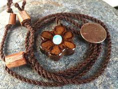 Mini ayahuasca Pendant / caapi jewelry / opal by OKAVARKpendants #minipendant #necklace #opal #handmade #michiganmade #puremichigan #happiness