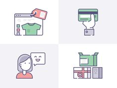 Ecommerce Icons for IconFinder & Shopify collaboration by Laura Reen #Design Popular #Dribbble #shots