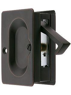 $25.99 oil rubbed bronze mid century modern pocket door hardware