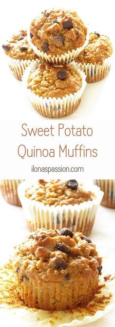 Sweet Potato Quinoa Muffins by http://ilonaspassion.com
