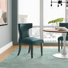 Rosdorf Park Burnett Tufted Velvet Upholstered Parsons Chair & Reviews   Wayfair Tufted Dining Chairs, Solid Wood Dining Chairs, Dining Chair Set, Dining Bench, Dining Decor, Dining Table In Kitchen, Dining Room, Kitchen Island, Chairs