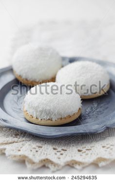 Close up of coconut marshmallow cookies