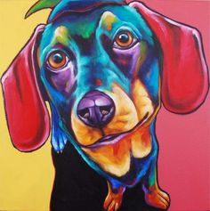 Ron Burns... Been to his gallery. Big fan. Colors, dogs, and acrylics... Awesome.
