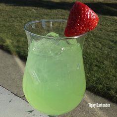 STRAWBERRY PATRON KISS 1 1/2 oz. (45ml) Strawberry Rum 1 1/2 oz. (45ml) Patron Tequila  1/2 oz. (15ml) Triple Sec Top with margarita mix
