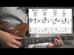 Jazz Guitar Walking Bass w/ Chords example