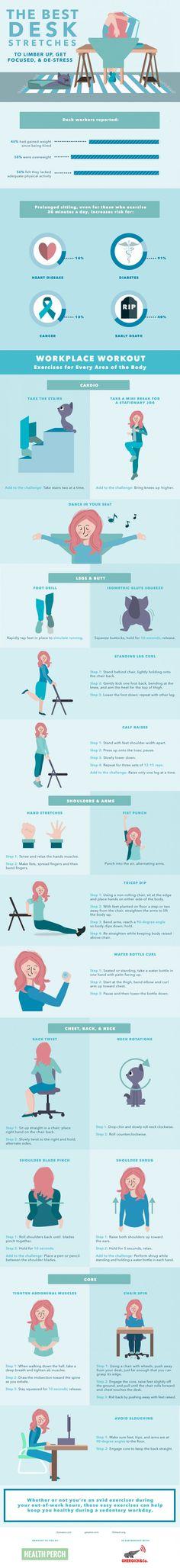 Entspannungsübungen für #Webworker The Best Desk Stretches To Limber Up, Get Focused & De-Stressed