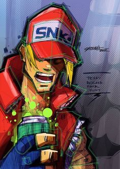 Terry Bogard, Artem Solop on ArtStation Character Model Sheet, Character Modeling, Character Design, Cyberpunk Character, Cyberpunk Art, King Of Fighters, Matte Painting, Art Inspo, Comic Art