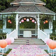 garden wedding 8 Ways to Decorate the Rose Court Garden Gazebo // Budget Fairy Tale