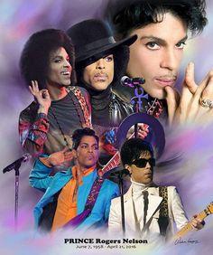 Prince (1958 - 2016) Wishum Gregory Art Print