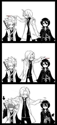 Ed from FMA and Toshiro and Rukia from Bleach