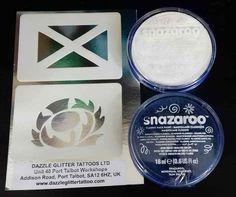 Scottish face painting set inc stencils & face paint rugby Scotland World Cup #DazzleGlitterTattoos #TemporaryTattoosHenna Glitter Tattoo Set, Face Paint Set, Rugby, Fundraising, Charity, Scotland, Stencils, Tattoos, Painting