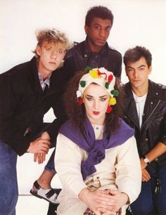 Image shared by Find images and videos about fashion, cute and boy on We Heart It - the app to get lost in what you love. New Romantics, Culture Club, Boy George, George Michael, Many Faces, Group Photos, Hollywood Celebrities, Pop Music, Jukebox