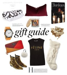 """""""Holiday Gift Guide"""" by bjigg ❤ liked on Polyvore featuring Louis Vuitton, The Beach People, Brian Lichtenberg, Eugenia Kim, Assouline Publishing, L.L.Bean, Sonoma life + style and FOSSIL"""
