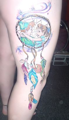Custom Peter Pan dreamcatcher.Done by Miss-Jade in Whyalla, South Australia.